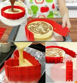 Cetakan kue bolu bongkar pasang silikon (1)