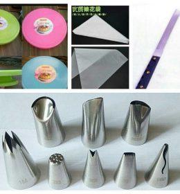 Paket Dekorasi Kue Spuit Basic 8 pcs