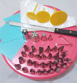 Paket Penghias Kue Lengkap Untuk Kue Ultah Kue Tart merupakan paket dekorasi kue terlengkap, terdiri dari 30 buah spuit basic.