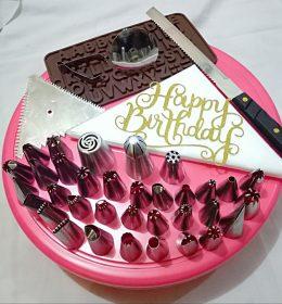 Paket Spuit Lengkap Untuk Menghias Kue Ultah ini wajib anda miliki, buat anda yang hobby atau berbisnis kue ulang tahun, paket ini akan memberi ide cemerlang dalam menghias kue.