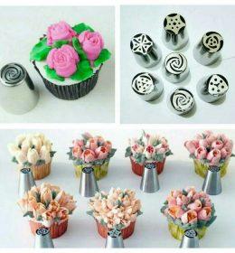 Spuit Rusia Mawar Asli Tanpa Sambungan adalah produk terbaik untuk menghasilkan hiasan kue dengan bentuk bunga.