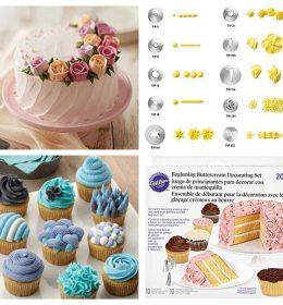 Spuit Wilton Asli 1 Set 10 Pcs akan memudahkan anda dalam menghias kue, garansi produk terbaik dan respon & pengiriman yang cepat.