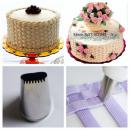 Spuit keranjang untuk menghias kue menjadikan hasil kue tart lebih klasik, natural. sangat cocok untuk kue ulang tahun maupun wedding cake.
