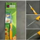 Pisau Kom Kom Superior Untuk Fruit Carving ini berbentuk paruh burung, sangat tajam & simpel untuk mengukir buah dan sayuran.