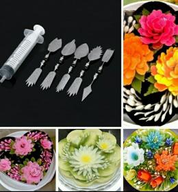 Puding Suntik Alat Untuk Jelly Art terdiri dari 10 buah alat dekorasi pudding art.