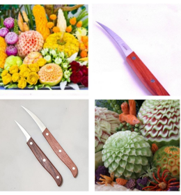 Pisau Ukir Buah Fruit Carving Knife PUB070 (1) WA 082214148000