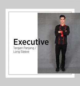 Baju Chef Executive Lengan Panjang Untuk Seragam Koki. (4)