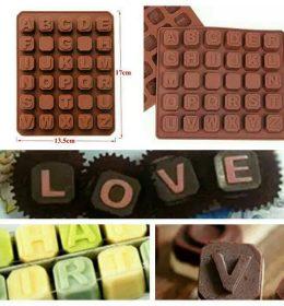 Cetakan Coklat Dan Cetakan Fondant Huruf Harga Murah.
