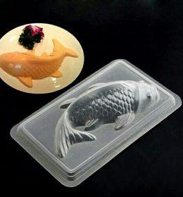 Cetakan Puding 3 Dimensi Bentuk Ikan Koi.